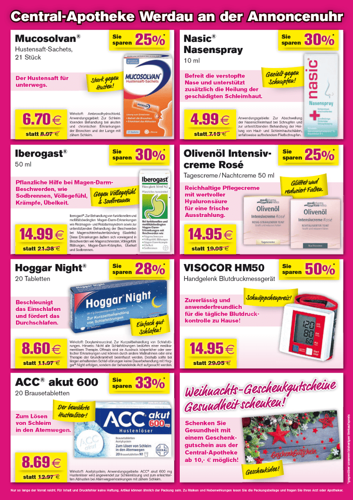 Angebote Rabatt Gutschein Central Apotheke Werdau Dezember 2019 2 (2)
