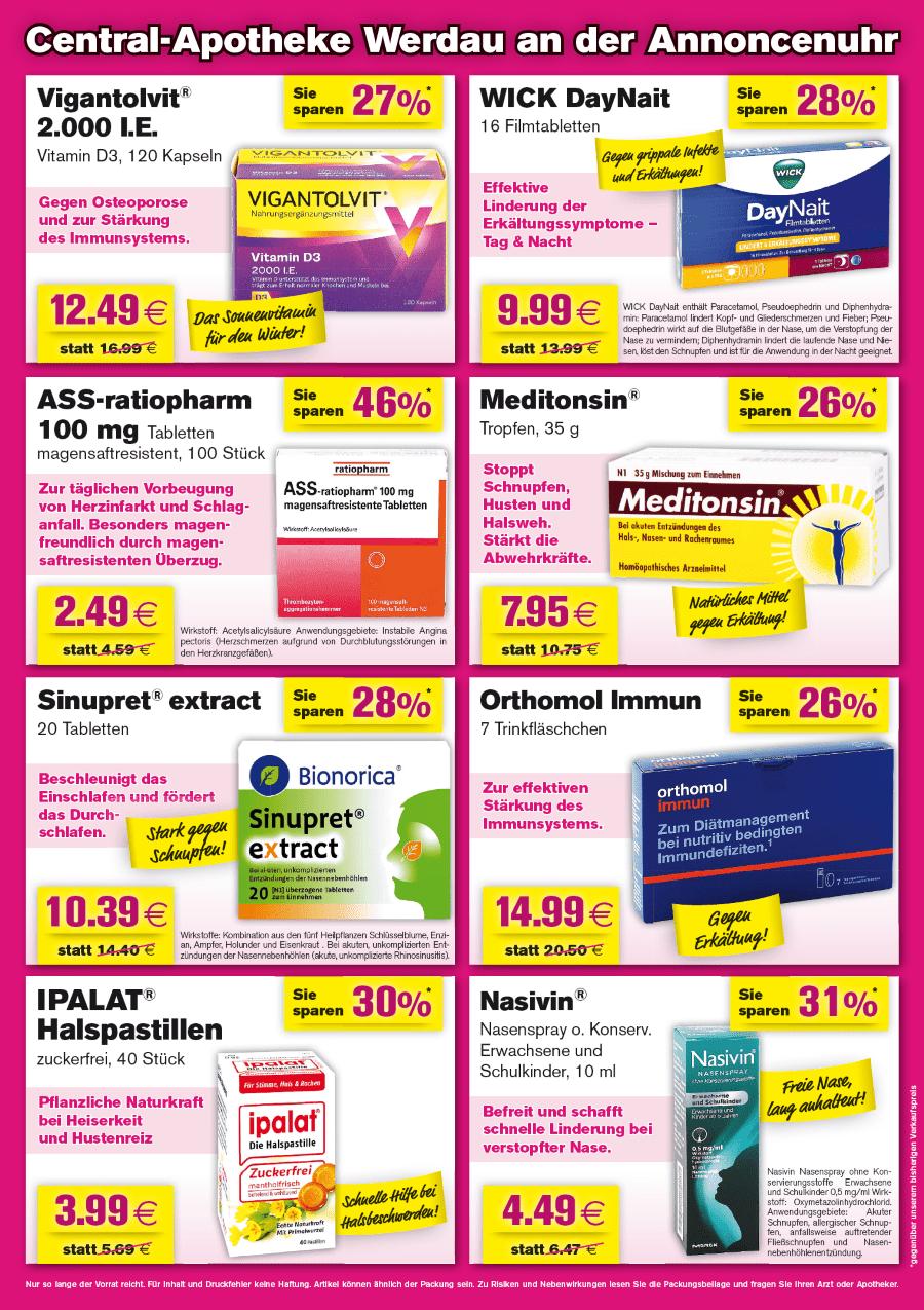 Angebote Central Apotheke Werdau Januar 2020 hinten Fraureuth Rabatt Gutschein