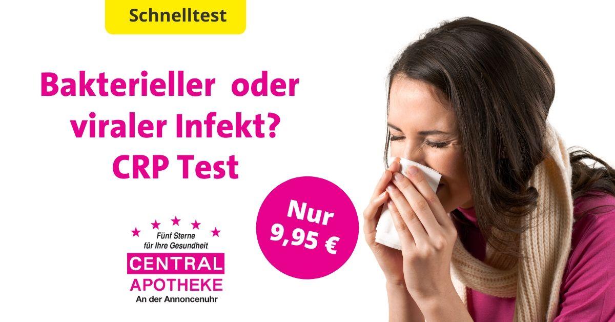 CRP Test werdau Erkältung Virus Bakterien