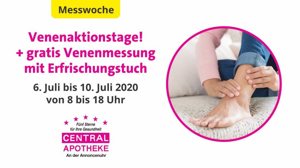 Central Apotheke Werdau Venenaktionstage 2020