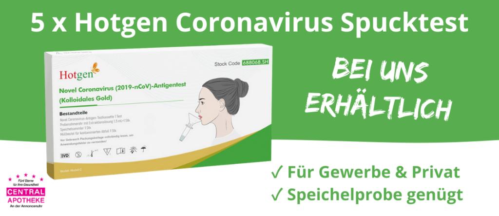 Hotgen Coronavirus Spucktest Central Apotheke Werdau Laientest Speicheltest
