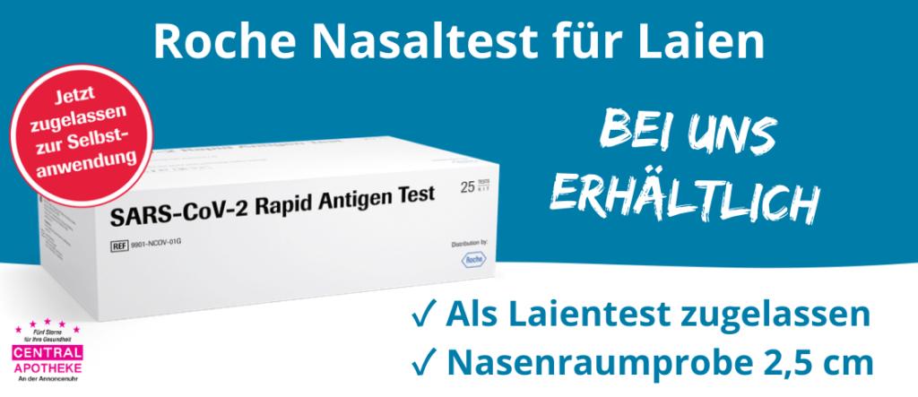 Roche Nasal Antigentest Schnelltest Selbsttest Laientest Central Apotheke Werdau